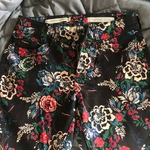 Anthropologie floral jeans
